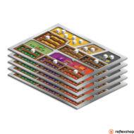 A Mars Terraformálása társasjátékhoz csúszásmentes játékostáblák