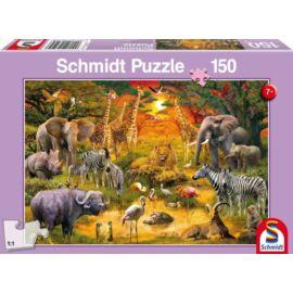 Afrika állatai puzzle
