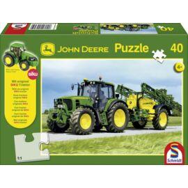 John Deere Traktor tápanyagszóróval (40 db) +AJÁNDÉK  SIKU Traktor modell