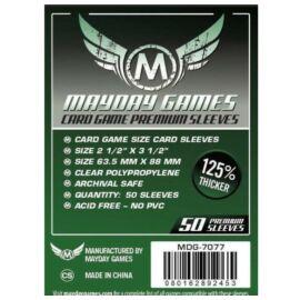 Mayday Games Prémium Kártyavédő kártyajátékokhoz  63,5 x 88 mm (50 db-os csomag)