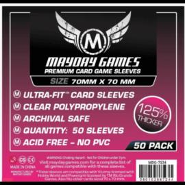 Mayday Games prémium kis négyzet kártyavédő 70 x 70 mm (50 db-os csomag)
