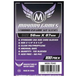 Mayday Games Standard USA méretű kártyavédő 56 x 87 mm (100 db-os csomag)