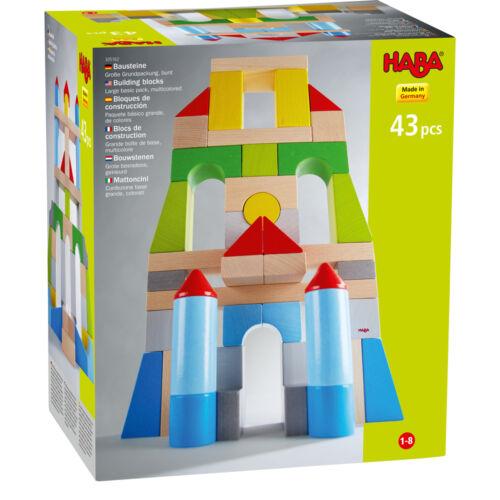 Építőkockák nagy színes alapkészlet 43dbos