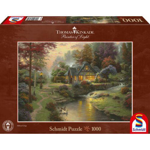 Stillwater Cottage, Thomas Kinkade, 1000 db kirakó