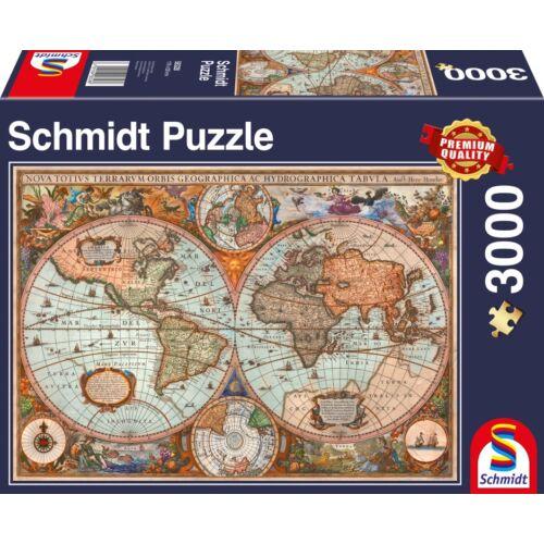 Antik világtérkép puzzle