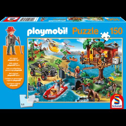 PLAYMOBIL faház puzzle (150 db) +1 AJÁNDÉK figura