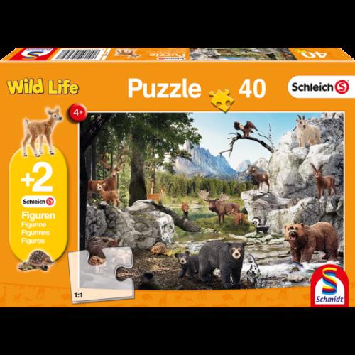 Az erdő állatai (40 db) (56239) +2 db AJÁNDÉK Schleich figura a dobozban
